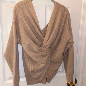 Sweaters - Comfy Knot Sweater off-the-shoulder